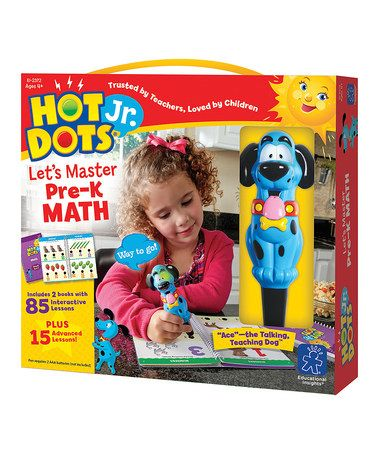 Take a look at this Hot Dots Jr. 'Let's Master Pre-K Math' Set by Hot Dots on #zulily today!