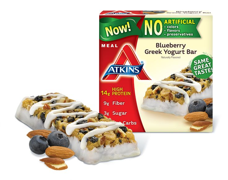 Perfect for a low carb lifestyle, the delicious Blueberry Greek Yogurt Bar is packed with protein and fiber to keep you full between meals. Shop Atkins bars online.