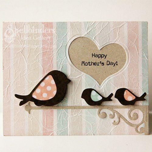 View Idea Gallery Projects | Spellbinders - Happy Mothers Day Heart Window Card
