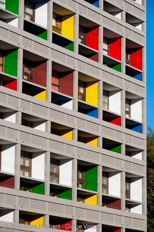 Corbusierhaus/ Unité d'Habitation. Le Corbusier. Berlin, Germany. 1958
