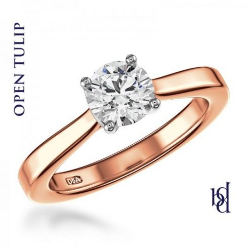 Diamond By Appointment 18ct Rose Gold 0.40ct Round Brilliant Cut Diamond  Ring