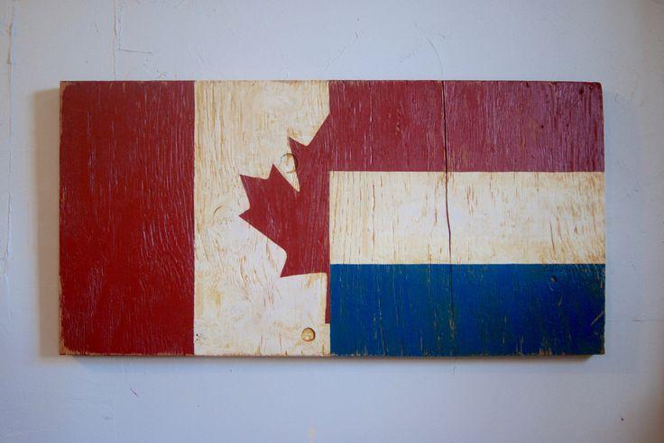 Dutch Canadian flag