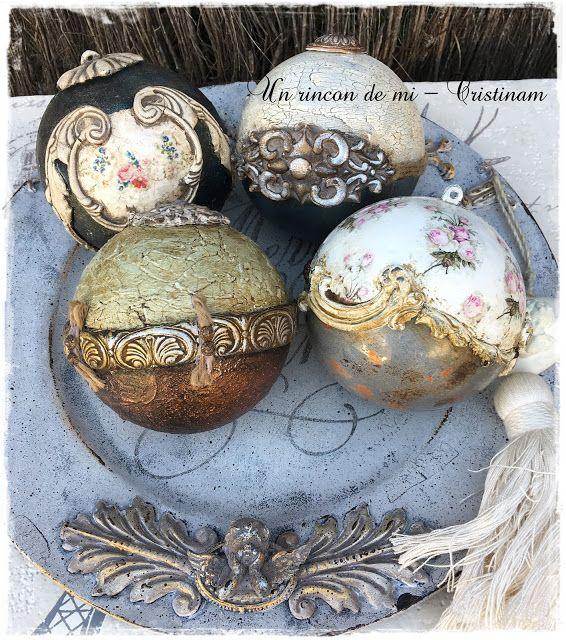 Un rincón de mi: Plato Merry Christmas y mas bolas decoradas