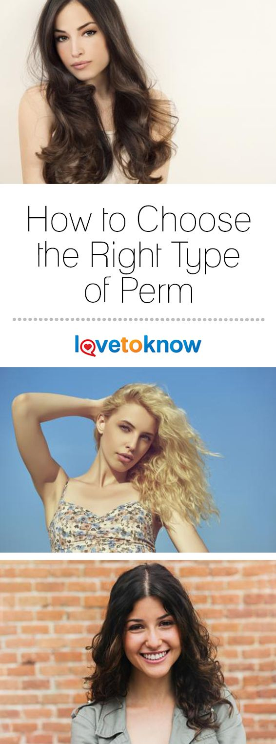 When most people think of a perm, they don't realize how many different perm looks there really are. Perms can be formal, fun, flirty, or functional - depending on the style. Get the right perm for your personal style and hair type for effortless beauty.   How to Choose the Right Type of Perm from #LoveToKnow
