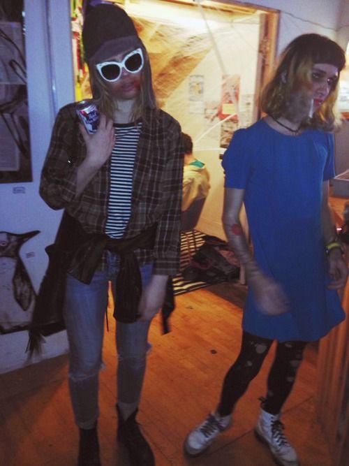 Kurt Cobain and Cortney Love