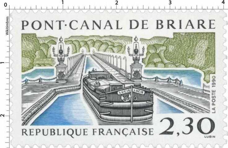 Timbre : 1990 PONT-CANAL DE BRIARE | WikiTimbres
