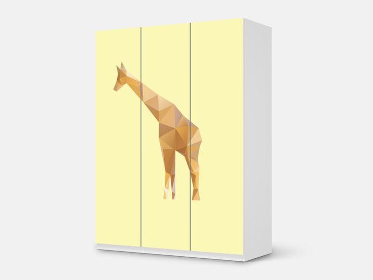 """#Designfolie / #Möbelfolie Design """"Origami Giraffe"""" für deinen #IKEA #Pax Schrank mit 3 Türen"""
