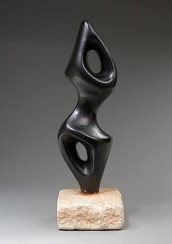 Georges Jouve (1919-1964) - Abstract sculpture / Sculpture abstraite, 1954 - ceramic
