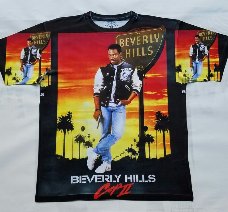 Beverly Hills Cop II T Sublimated Shirt cali classic movie detroit 80s #Doesnotapply #GraphicTee