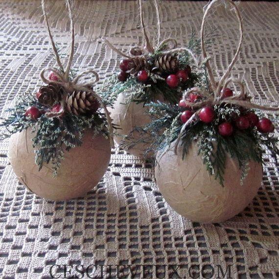 20 idées maison Ornement mettre à jour votre arbre de Noël - Cheveux Coiffure