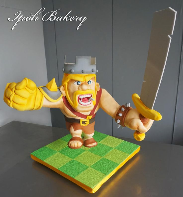 The Barbarian King from COC - Cake by William Tan