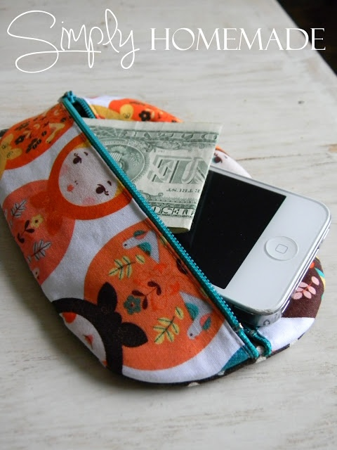 simply homemade: Little oval pouch tutorial