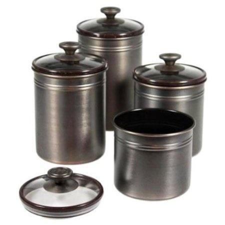 Amazon.com: Kamenstein Brushed Bronze Canister Set: Home U0026 Kitchen