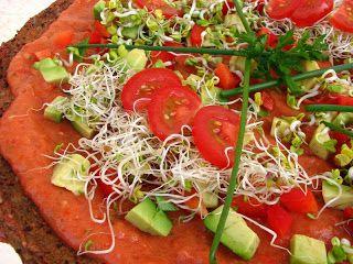 Gitta nyersétel blogja: Nyers pizza csírákkal