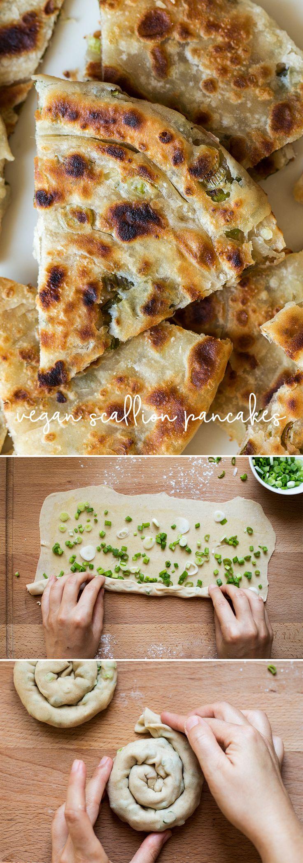 #scallion #pancakes #scallions #chinese #vegan #easy #springonions #springonion #dough #recipe #vegetarian