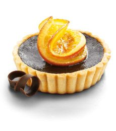 Jaffa Chocolate Tarts - A dinner party dessert perfect served with cream. Be sure to save a sliver for the next day. Delicious!