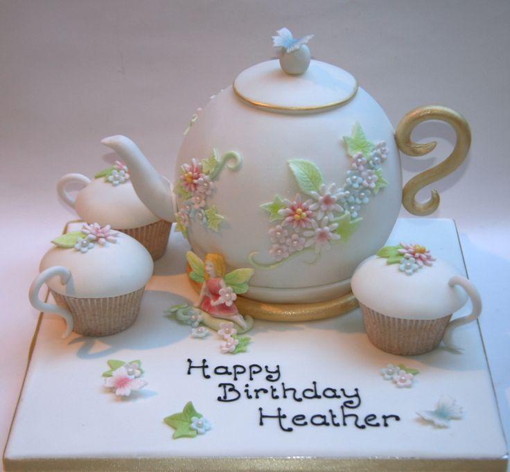 tea pot cake | Teapot and fairy with tea cups