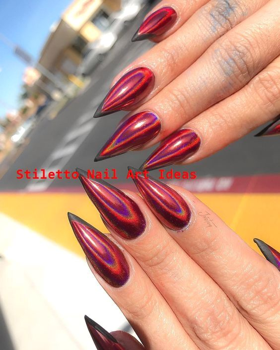 48 Multi Chrome Acrylic Nail Design Ideas to Look… – Stiletto Nails