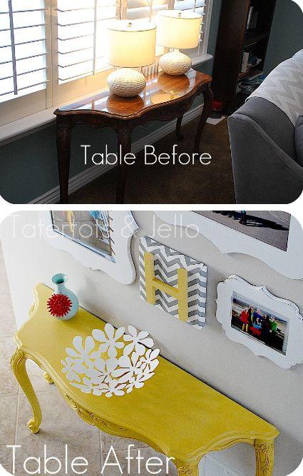 10 Great DIY Furniture Transformations via sasinteriors.net  ....    Refurbish a piece of furniture then do balloon paper mache/ doily  bowl.... yes