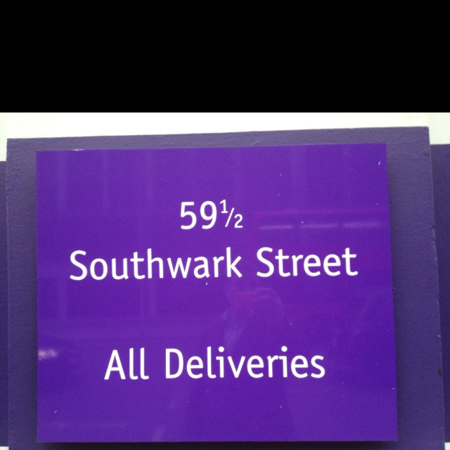 A real address in Southwark London