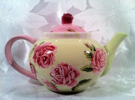 English rose tea garden teapot