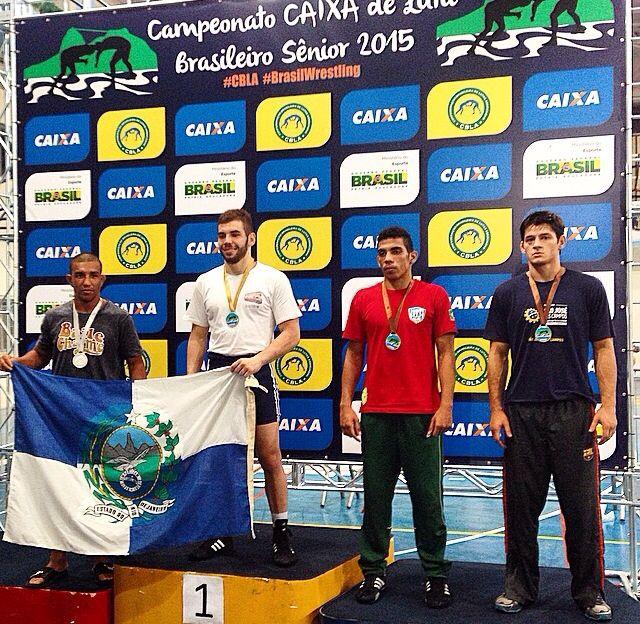 Pedro Rocha, campeão brasileiro de luta olímpica. \o/
