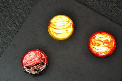 Play At Home Mom LLC: Push Light Planets  I would like to try these with the boys