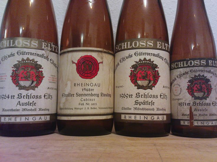 Some old Rauenthaler and other Rheingauer Wines
