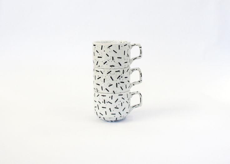 SQUIGGLE COFFEE CUPS BY EL-AICH DESIGNS