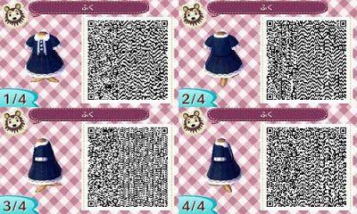 Animal Crossing New Leaf Classic Kawaii Blue Dress QR Code