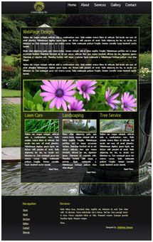 Landscaping Website Design Temaplate  landscape.webpaigedesigns.com - see full version for sale #webDesign