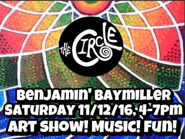 It's finally here! Starting at 4 o'clock come check out the fabulous art of local painter Benjamin Baymiller accompanied by some sweet local sounds. Se ya later!
