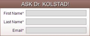 Dr Kolstad is known as the Face Specialist, Because that is all he does