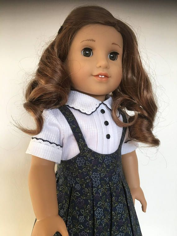 Rebecca's Pleated School Dress Fits American Girl Dolls