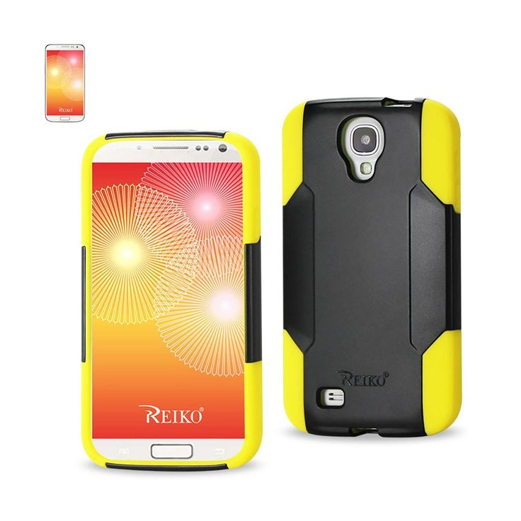Reiko Samsung Galaxy S4 Hybrid Heavy Duty Case Yellow Black | MaxStrata