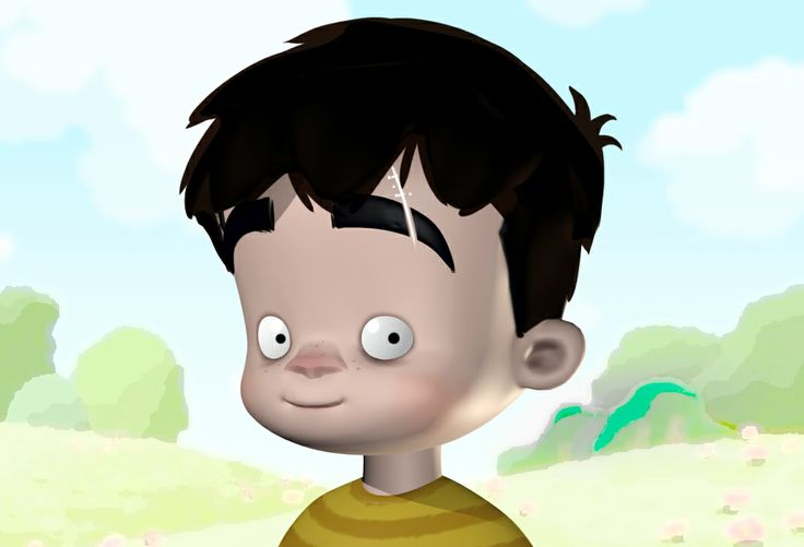First character design for Roberto (child)