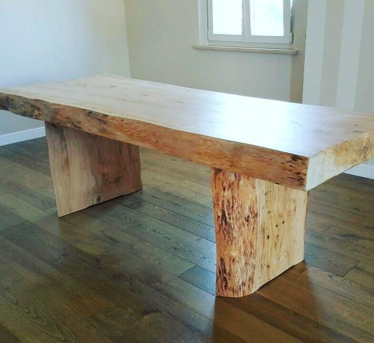 www.xlab.design tavolo in legno massello di cedro costruito a mano in Italia