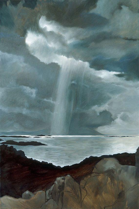 The Sound of Rum Scotland  light on an island by AnneliesClarke