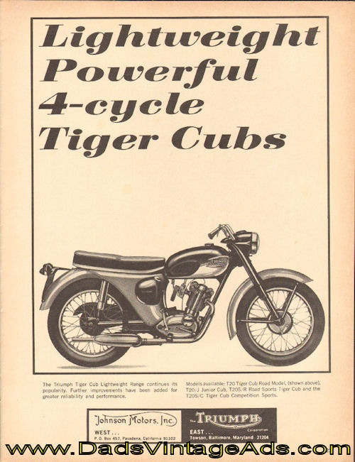 1965 Triumph Tiger Cub Lightweight Motorcycles