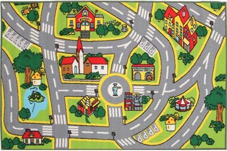 TOWN RUG - Drive around town on this beautiful rug! Great quality and hours of fun. Looks great at all times, even when you aren't playing.