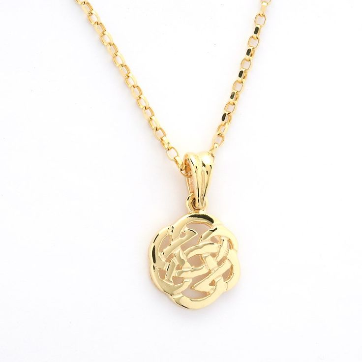 Small Round Celtic Knot Pendant Celtic Necklaces Amp Pendants Rings From Ireland This Is A