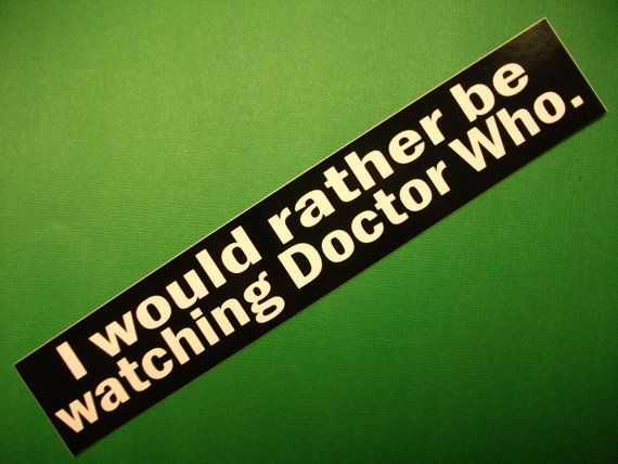 I love stickers.  I love Doctor Who.  Makes sense that I would love a Doctor Who sticker.