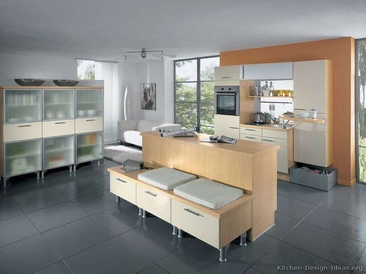 #Kitchen Idea Of The Day: Modern Cream Colored Kitchen (By ALNO, · Kitchen  Island SeatingKitchen ...