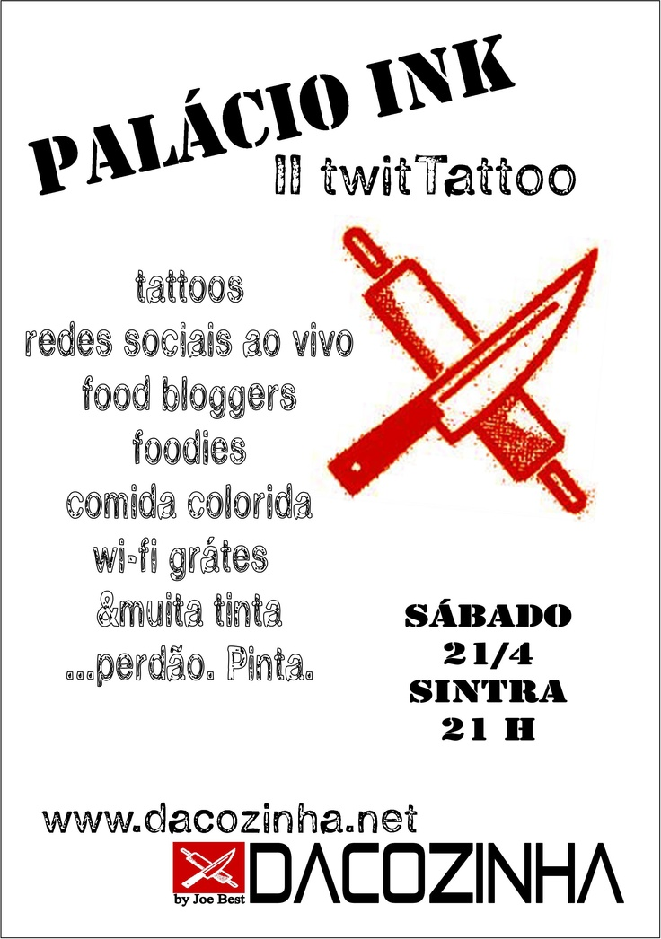 Sábado, 21 de Abril. Marcações para tattoo - ESGOTADAS!!! ComidaSex arranjam-se!