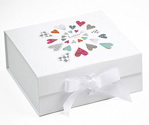 23 best personalised baby gifts images on pinterest personalised baby keepsake box memory box love hearts memory box b negle Choice Image