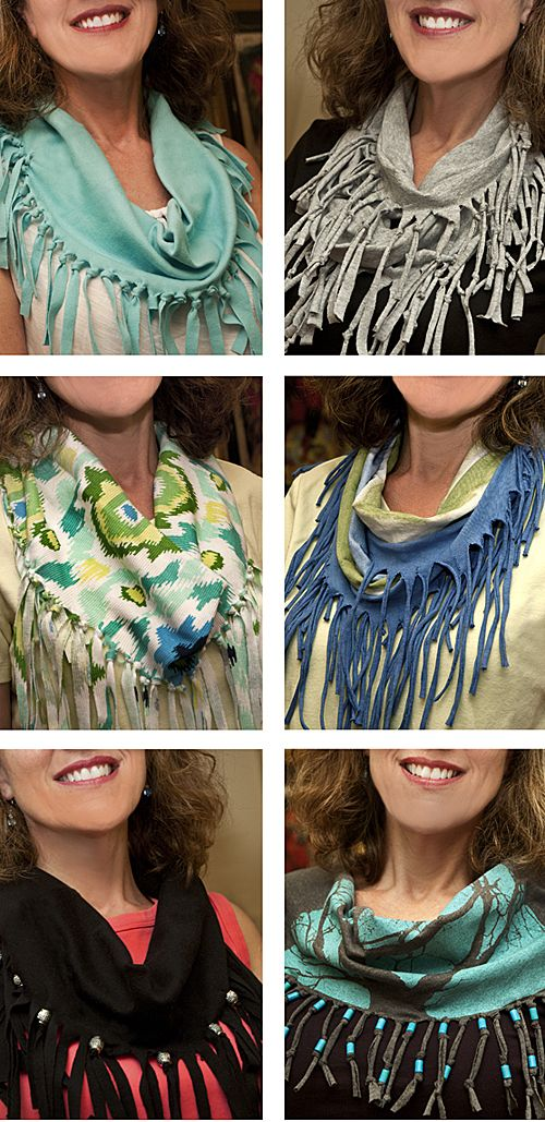 Tshirt Scarves lorez...... i think this is a flash back to my jr. high years