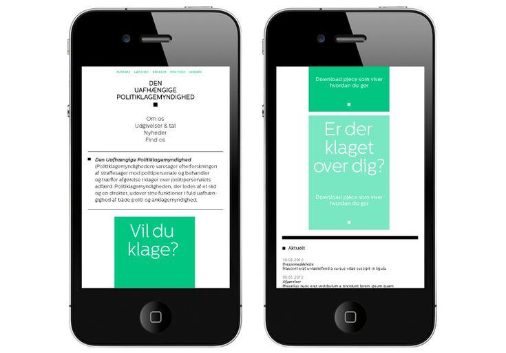 Resonsive webdesign og design af visuel identitet til Den Uafhængige Politiklagemyndighed