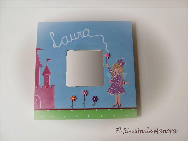 Malma de princesa rubia cuadros y espejos infantiles by for Espejos infantiles