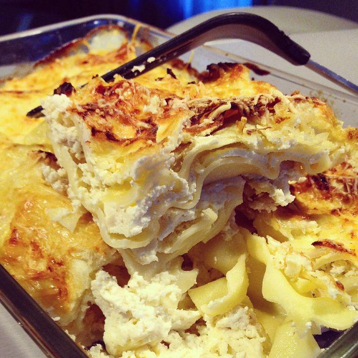 Des lasagnes au poulet et à la Ricotta. Pour changer un peu.