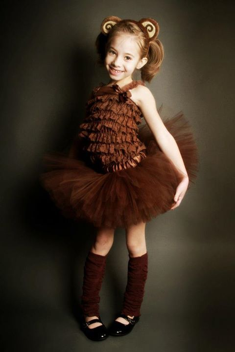 Brown monkey tutu costume by My Baby Rocks http://www.punkbabyclothes.net/shop/product_info.php?cPath=23_153&products_id=12300 - photo by Andrea Thornton